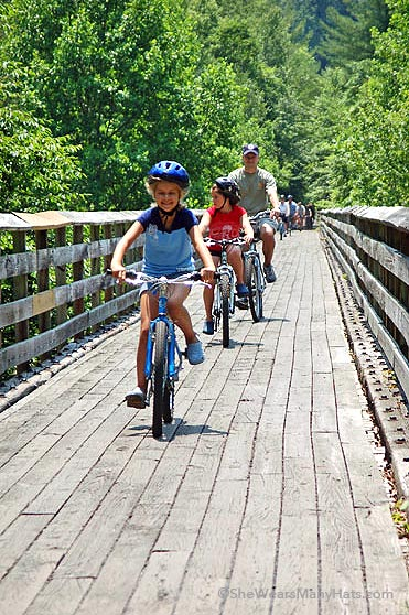 family travel virginia creeper bike  trail