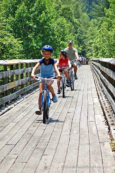 family travel virginia creeper bike trail