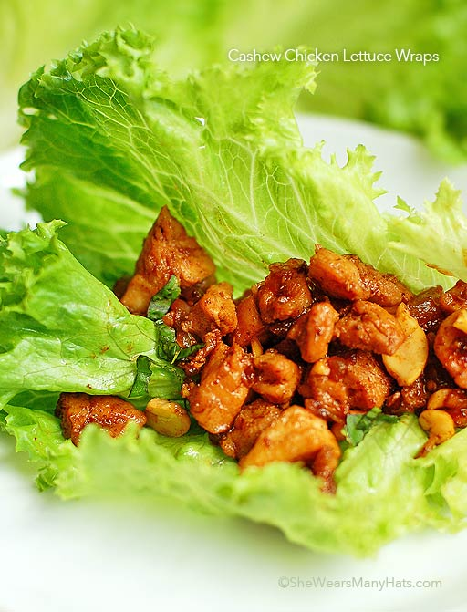 These recipe for easy Chicken Cashew Lettuce Wraps is perfect for ...