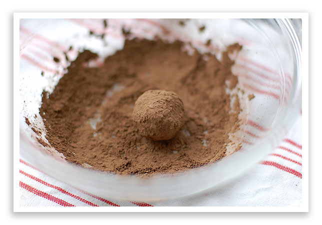 Dark Chocolate Truffles with Pomegranate Liqueur