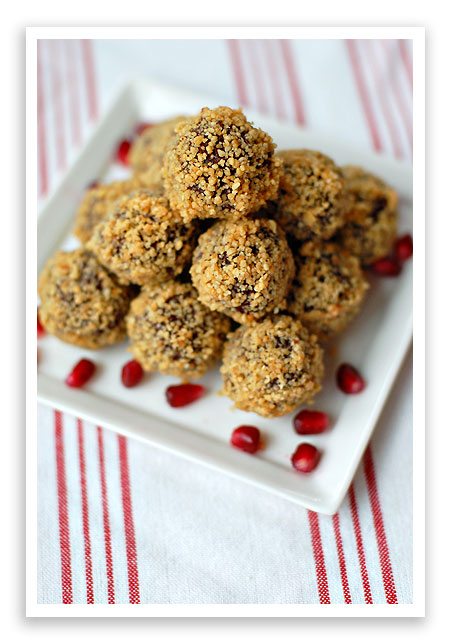 Dark Chocolate Truffles with Pomegranate Liqueur