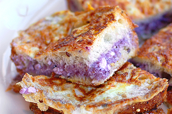 Blueberry Cream Cheese Stuffed French Toast