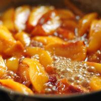 Fried Nectarines with Vanilla Mascarpone Recipe