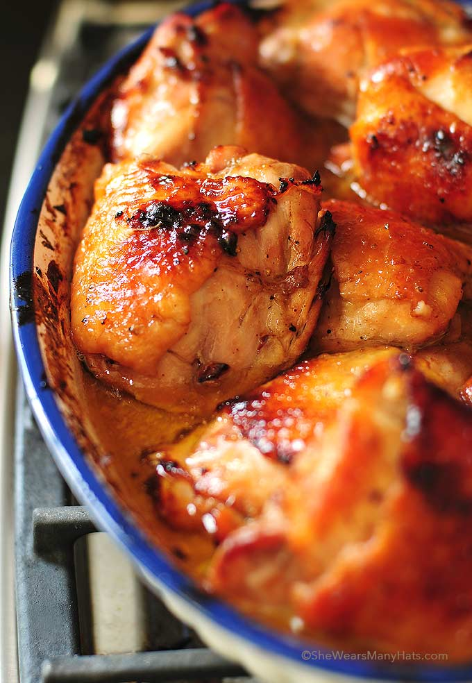 Slow roasted chicken thighs recipe