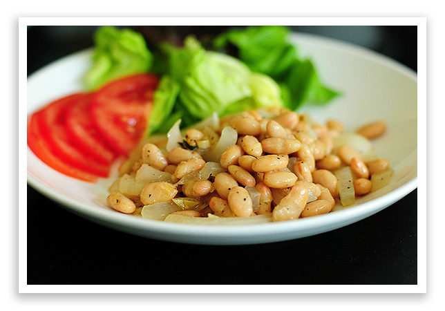 White bean saute she wears many hats do you have any simple side dishes to share forumfinder Images