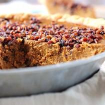 Pumpkin Pie Recipe with Pecan Praline Topping | shewearmanyhats.com