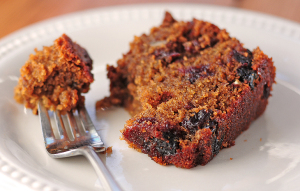 Spiced Beer Cake with Dried Cherries and Pecans