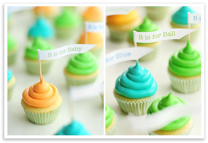 mini baby shower cupcakes