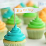 Mini Baby Shower Cupcakes