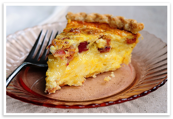 quiche bacon and cheese quiche cheese and bacon quiche but then the ...