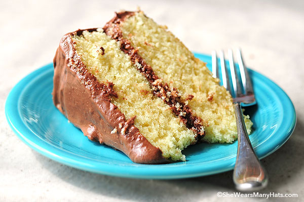 Yellow Butter Cake with Chocolate Malted Buttercream Recipe