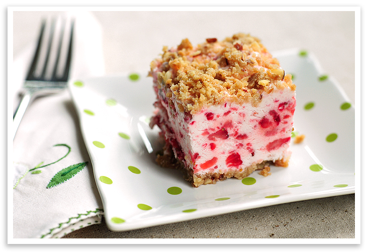 Strawberry Jello Cake Recipe Frozen Strawberries: Frozen Strawberry Squares Recipe