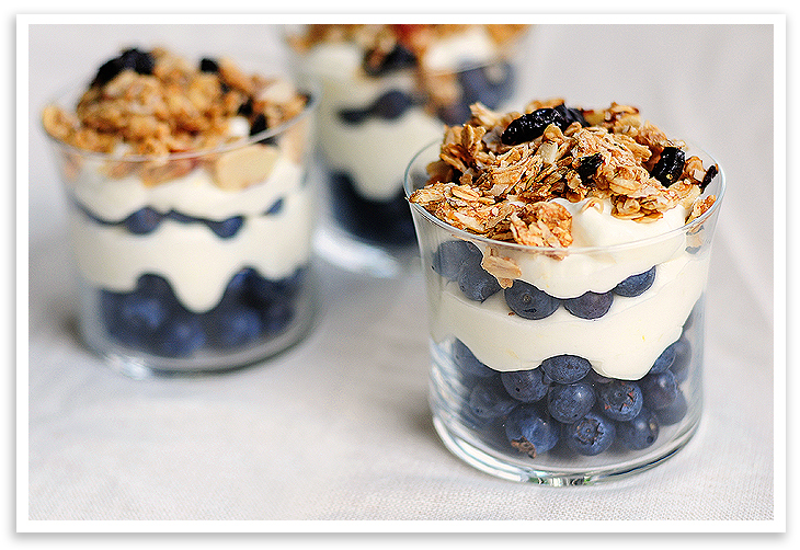Lemon Cream Granola Parfaits