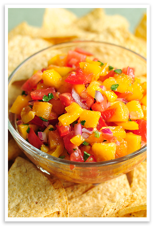 Peach Salsa Recipe | She Wears Many Hats