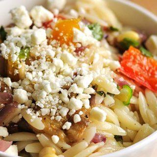 Roasted Vegetable Orzo Salad