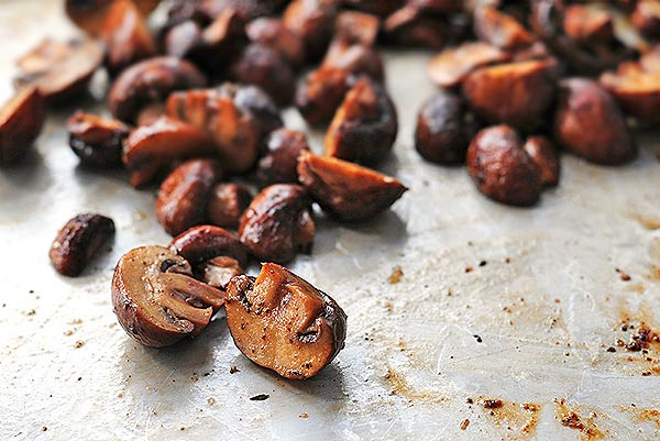 how to roast mushrooms