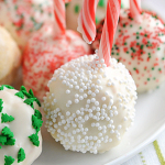 Peppermint Rice Krispies Treats Snowballs