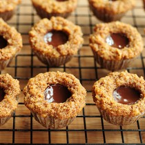Grain-free Chocolate Coconut Mini Muffins Recipe | shewearsmanyhats.com