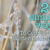 ideas to combat winter doldrums
