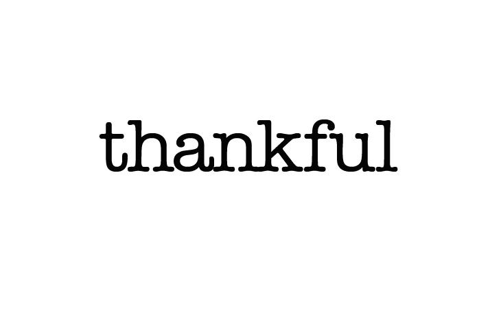thankful to run