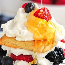 Citrus Tea Biscuits Shortcake with Berries