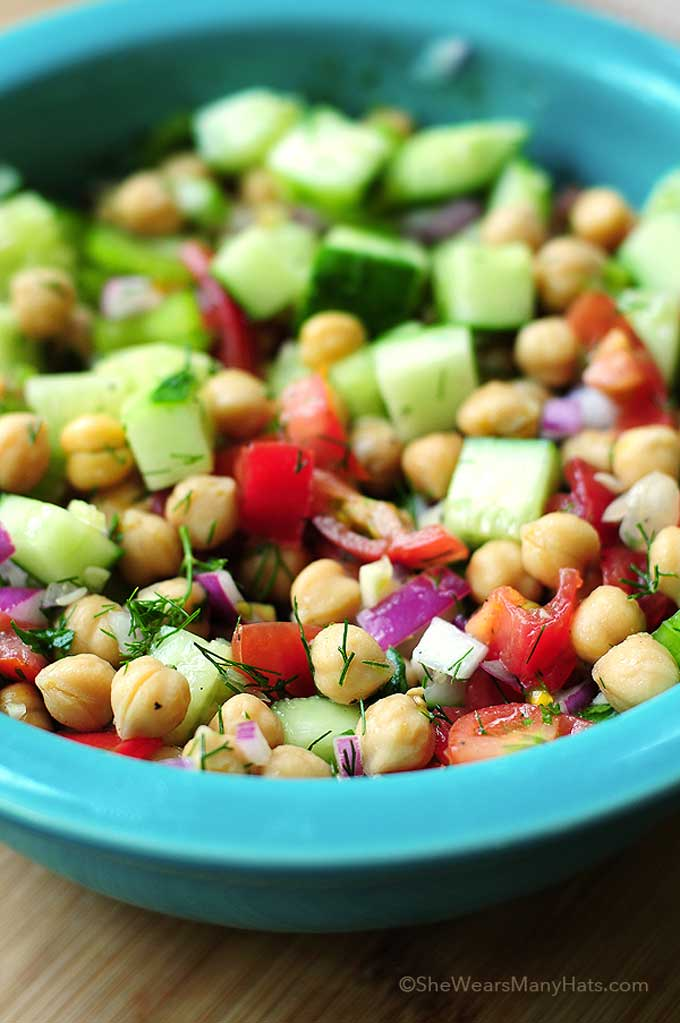 Chickpea Salad With Red Onion And Tomato Recipes — Dishmaps