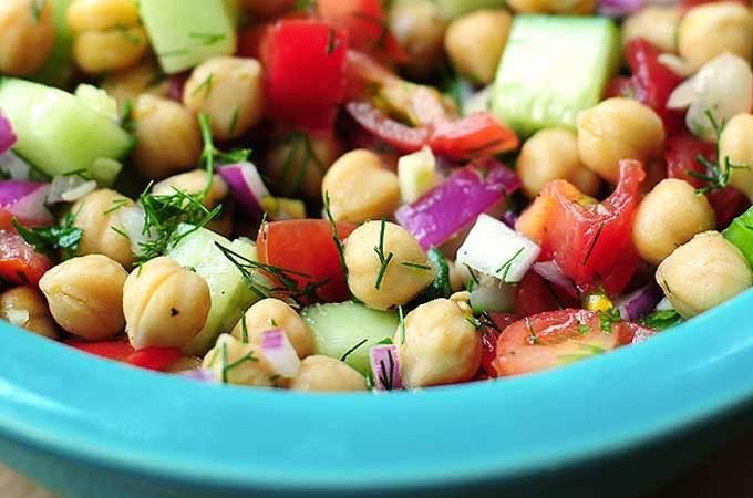 Cucumber Chickpea Salad Recipe