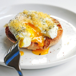 Poached Eggs with Gouda on Toast