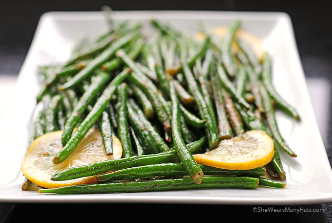 Easy Garlic Lemon Green Beans