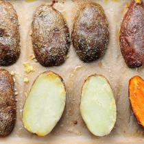 Quick Baked Potatoes Recipe | shewearsmanyhats.com