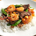 Hibachi Style Garlic Steak and Shrimp