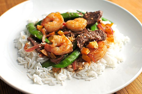 Easy Hibachi Style Garlic Steak and Shrimp