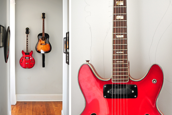 Hang Guitar On Wall found it on pinterest.