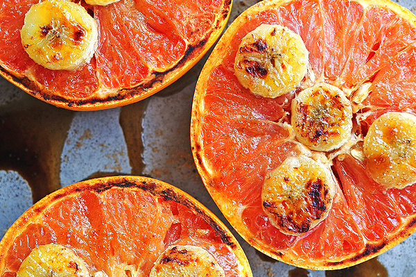 Broiled Grapefruit with Bananas
