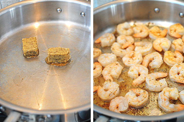 ... pepper flakes to make Creamy Lemon Pepper Shrimp Pasta with Basil and