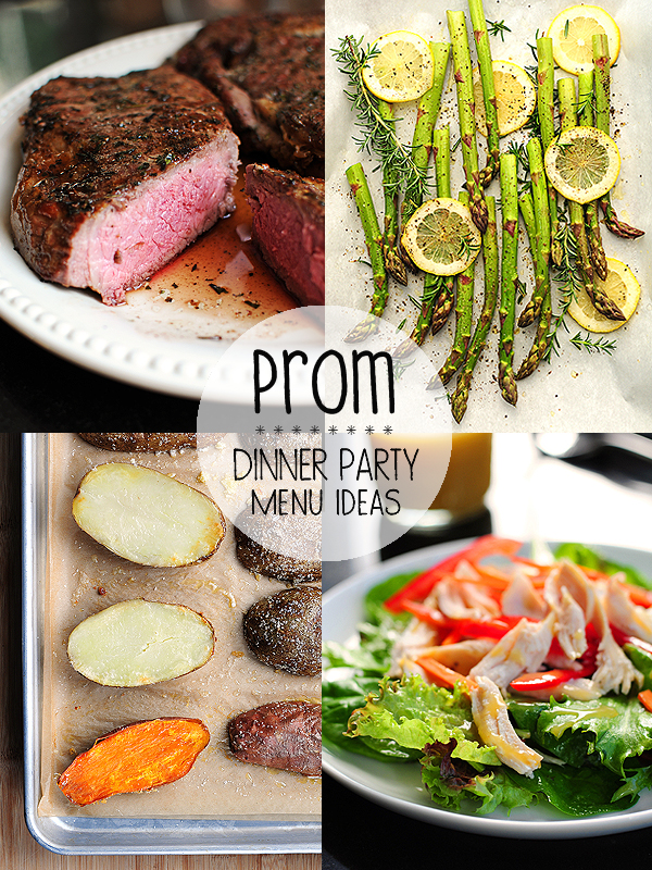 Prom night menu ideas for Ideas for dinner menu