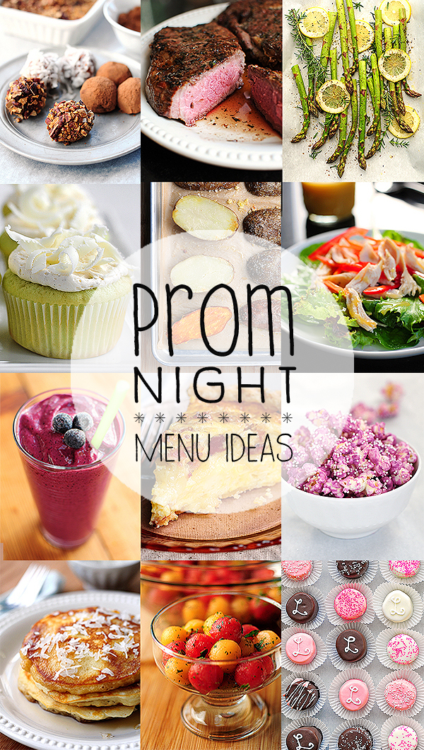 Prom Night Menu Ideas