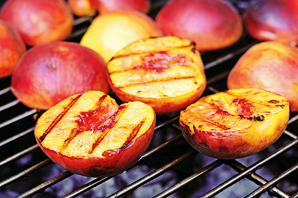Grilled Peaches With Margarita Cream