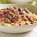 Angel Hair Pasta with Italian Sausage, Mushrooms & Herbs