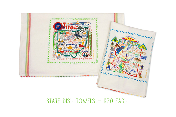 Embroidered State Dish Towels from UncommonGoods : Gift Ideas
