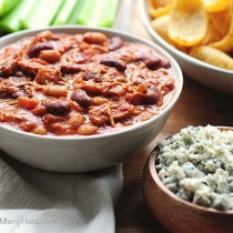 easy buffalo chicken chili