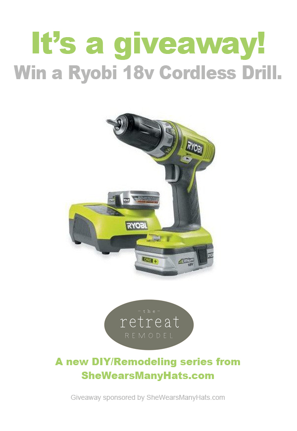 The Retreat Remodel No. 2 | Ryobi #Giveaway from @SheWearsManyHats #DIY