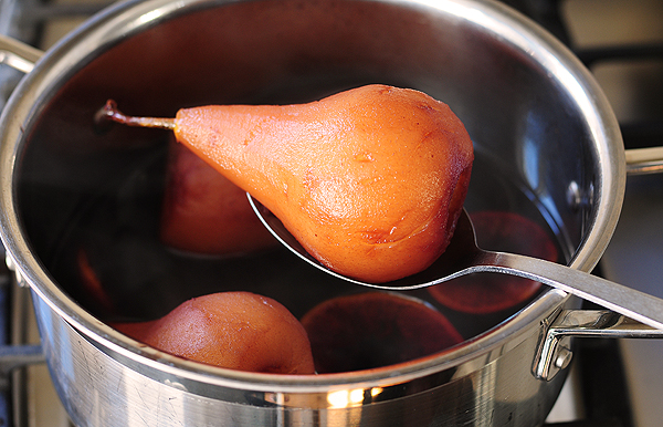 Poached Pears with Pinot