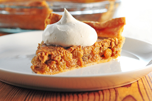 Brown Sugar Rum Raisin Pie