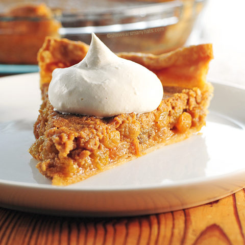 Brown Sugar Rum Raisin Pie