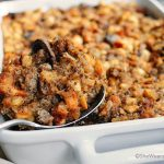 This tasty Sausage and Mushroom Stuffing recipe creates enough for a crowd for that special holiday celebration.
