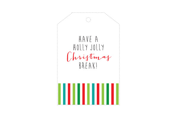 christmas goodie bag tag