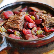 Braised Beef and Bacon Chili