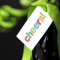 Cheers! Wine Gift Tag Printable
