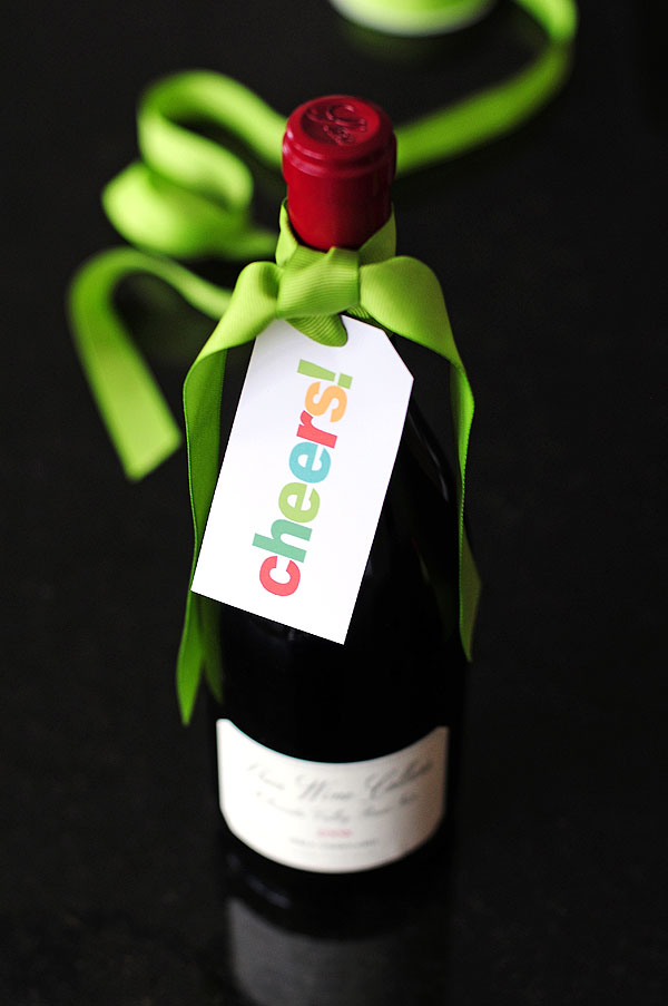 Cheers! Wine Gift Tag Printable